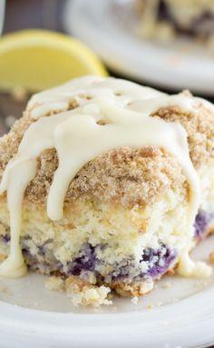 Blueberry Cinnamon Roll Cake