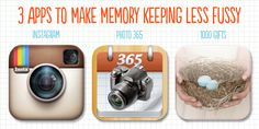 3 apps to make memory keeping less fussy