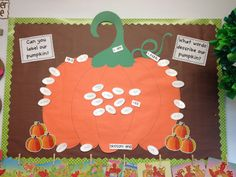 A very large pumpkin bulletin board/anchor chart!