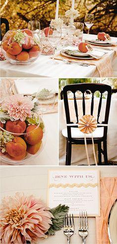 a peachy table