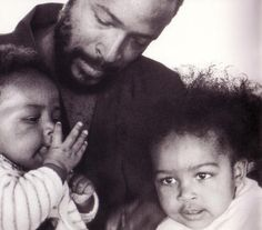 Marvin Gaye with his children.