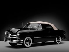 Would kill for one of these #KillerRide Ford Custom Convertible Coupe (76) '1949