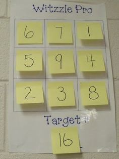 Math Game ~ maybe a whole school activity