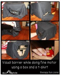 OT Corner: Using a Visual Barrier When Doing Fine Motor Tasks   - Pinned by @PediaStaff – Please Visit http://ht.ly/63sNt for all our pediatric therapy pins