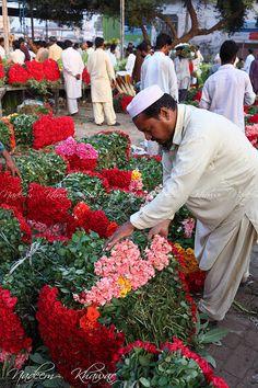 Flower Market in Lahore, Pakistan