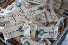 crochet booth, craft fair, pin packag, crochet hair pins