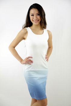 Isadora gradient dress in blue