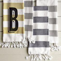 Hammam Stripe Hand Towel | west elm