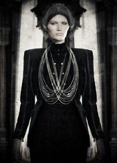 From The Witch House of Gori de Palma † Spring / Summer 2013 Collection † Photo: Daniel Murga † #fashion #hautegoth #goth #gothic #gothaesthetics #witchhouse #female #model #femalemodel #DanielMurga #GoriDePalma #2013