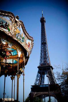 Paris Eiffel Tower Carousel Paris by UnAirDeParisByAlbane on Etsy, $12.00