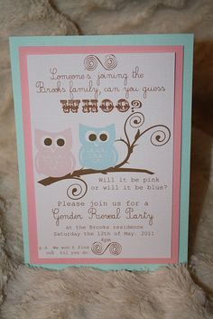 Gender reveal invite idea