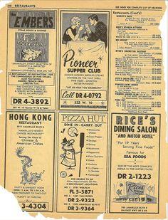Amarillo restaurant listings, 1965 6