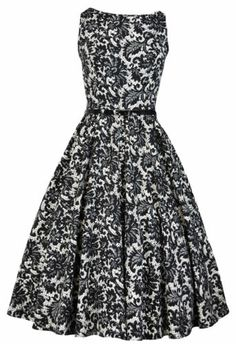 Lady Vintage Audrey Hepburn Dress 9 Different Prints 50s Rockabilly Size 8 28 | eBay