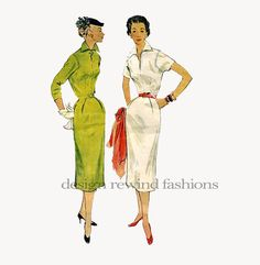 1950s WIGGLE DRESS Fitted Tailored Bodice by DesignRewindFashions, $20.00