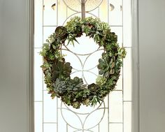 How to Make a Living Succulent Wreath - The Home Depot