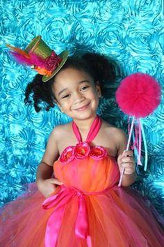 Pink and Orange Tutu Dress by Atutudes