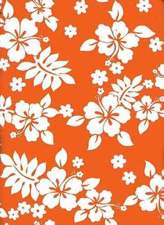 orange hawaiian print