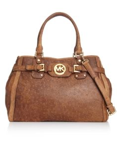 Michael Kors ostrich leather