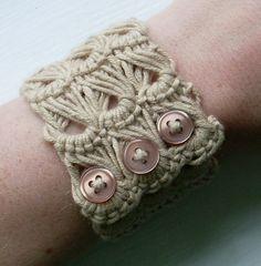 Broomstick lace bracelet.