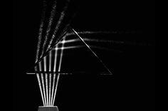 Beams of Light Through Glass (1960). Berenice Abbott's Minimalist Black-and-White Science Imagery, 1958-1960 | Brain Pickings