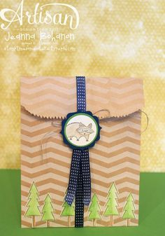 Life in the Forrest Birthday card and fun envelope - Jeanna Bohanon, 2013 Stampin' Up! Artisan Design Team