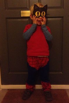 Happy Halloween from Spiderman and Cat Woman's lovechild < ha! - from Free Our Kids