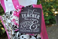 The Moody Fashionista: Back to School Teacher Gift teacher gifts, secret teacher, schools, teacher appreci, school teacher, moodi fashionista, gift idea, teachers, back to school