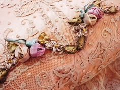 How gorgeous is this ribbon work???