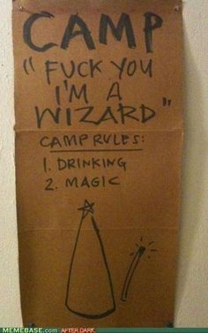 I'm going to this camp.