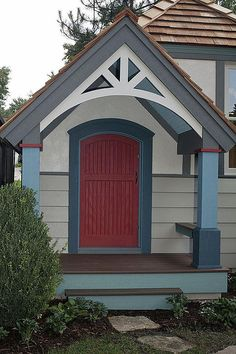 A four-year-old boy got his wish for a red door for his new playhouse.  Read all about this story in our blog post:  http://paintpartner.com/exterior-painting/a-red-door-for-jonathans-custom-playhouse-the-meaning-of-red-doors