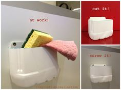 recycling: make an under-the-sink caddy out of a plastic container