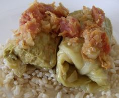 Cabbage Rolls with Turkey and Brown Rice