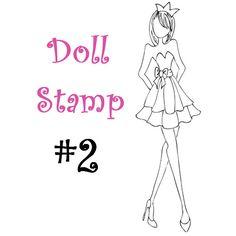 Prima Doll Stamp Julie Nutting Large by CrazyCraftyCreators