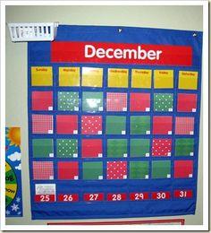 Turn your pocket calendar into an advent calendar.