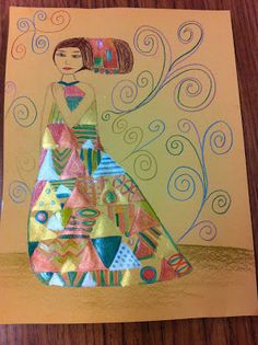 Klimt pattern dresses, Drip, Drip, Splatter Splash, art ed blog