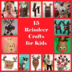 15 Reindeer Crafts for Kids