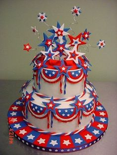4th of July Stars Cake
