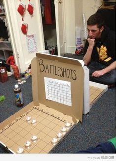 Could I make this into a child-friendly game by replacing the shots with something healthier? My navy husband would love to play battleship with his son... and then we could turn it back into shots for some after-hour adult fun... hmmm....