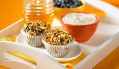 berri, almond, multigrain muffin, oat