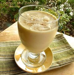 Coconut and Banana Smoothie is delicious for breakfast or as a milkshake for the kids.