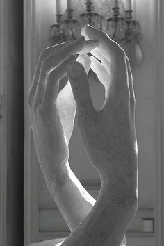 No one sculpted hands like Rodin. He spent years studying the anatomy of hands, and did a number of small pieces of them.
