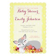 Lil Foxie Cub - Custom Baby Shower Invitations Custom Announcement