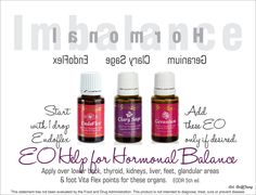 Young Living Essential Oils | Hormone Imbalance | For more info or to place an order, come visit:  www.thesavvyoiler.com