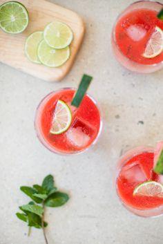 Watermelon Lime Mint Agua Fresca / blog.jchongstudio.com