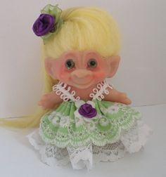 Vintage DAM Troll Doll Little Miss Sunshine by WowwyGaZowwy.