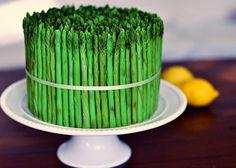 """An asparagus """"cake"""", for the veggie table. :)"""