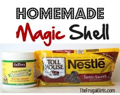 Homemade Magic Shell Recipe! ~ from TheFrugalGirls.com ~ just 2 ingredients to make this Magic Shell, and you've got yourself such a delicious and fun ice cream topping! #dessert #recipes