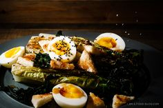 Grilled Romaine Salad on i am a food blog