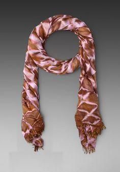 BRIGHTLY TWISTED Tie Dye Scarf in Python