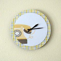 Retro Wall Clock Decor & Housewares Birthday Gift by Shannybeebo, $51.00
